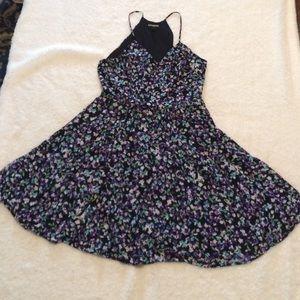 Express Brand floral purple min dress. Size: 8